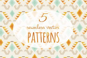 5 Ethnic Vector Patterns