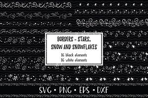 Winter Doodle Borders