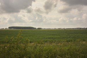Typical countryside landscape of the