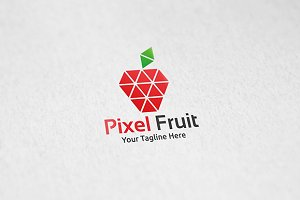 Pixel Fruit - Logo Template