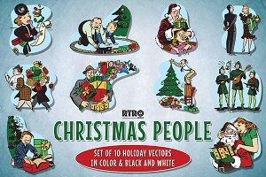 RTRO-Christmas People