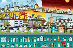 Cityscape Vector Set