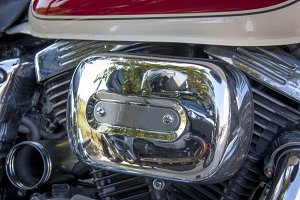 The motor of the bike