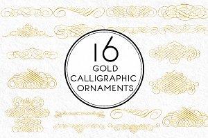 Gold Calligraphic Ornaments
