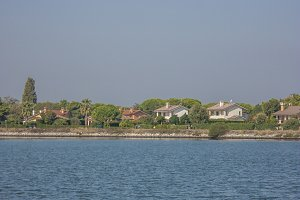 View of the delta of the river po in