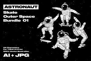 Astronaut Bundle 01 - 04 Characters