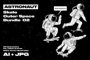 Astronaut Bundle 02 - 03 Characters