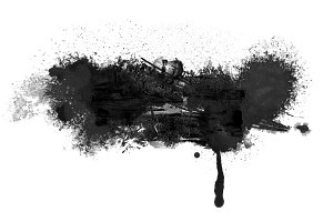 Abstract ink watercolor paint