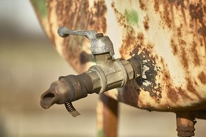 Old rusty faucet