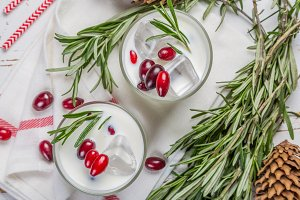 White christmas margarita punch