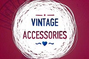 Vintage brashstroke accessories(EPS)
