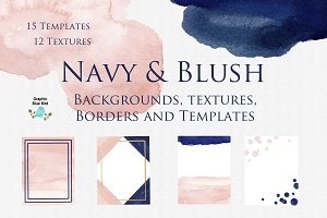 Navy and Blush Backgrounds