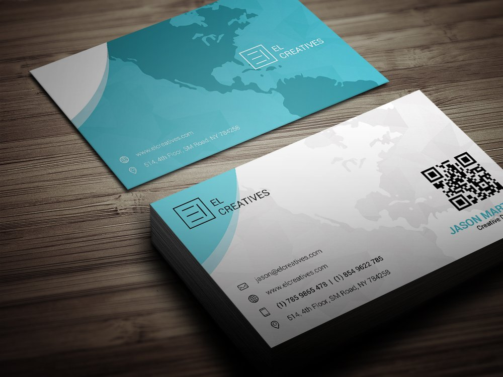 Creative Map Business Card ~ Business Card Templates ~ Creative Market