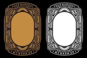 Ornament frame design template