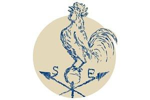 Rooster Cockerel Crowing Weather Van