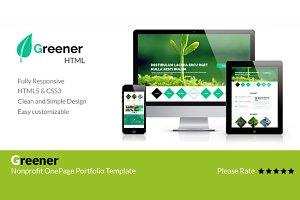 Greener - Nonprofit OnePage Template