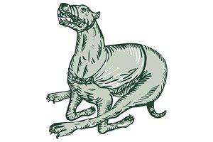 Greyhound Dog Racing Side Etching