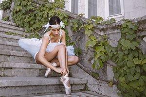 Ballerina outdoors