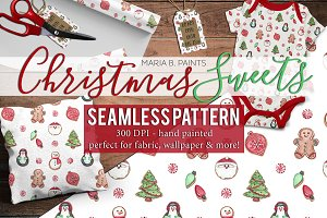 Christmas Sweets Seamless Pattern