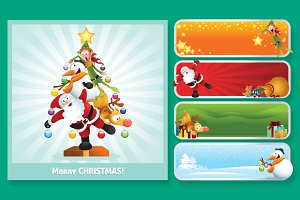 Fun Christmas Character Collage Set