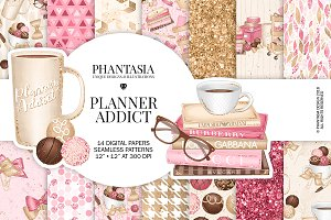 Planner Addict Digital Paper Pack