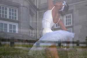 Double exposure ballerina
