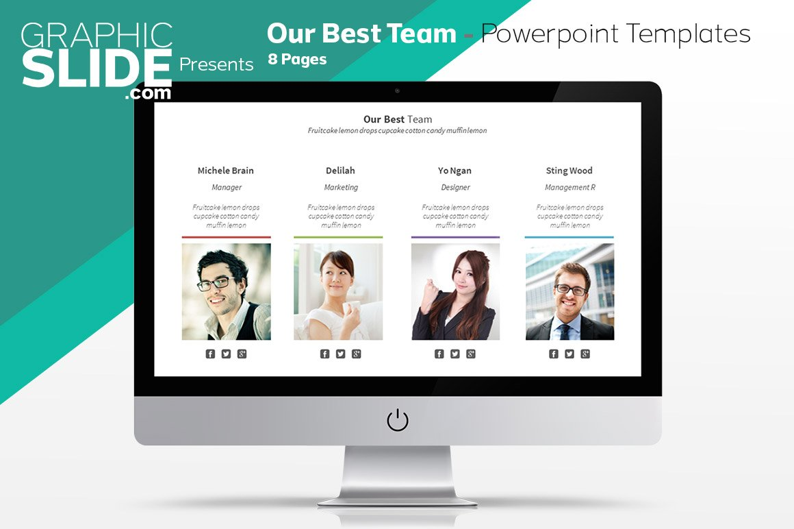 Our Best Team - Powerpoint Templates ~ Presentation Templates ...