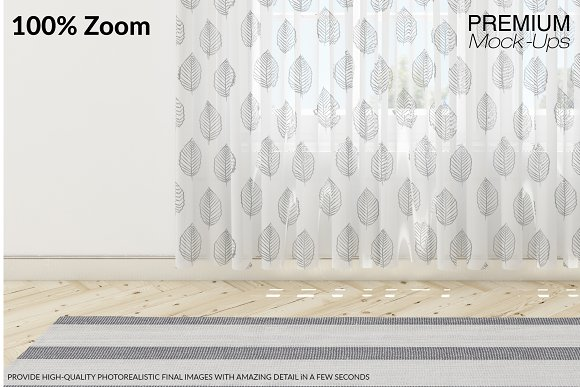 Voile Net Curtain Set in Product Mockups - product preview 12