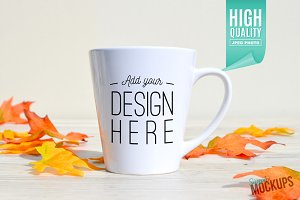 12oz Latte Mug Mockup - 1 Sided