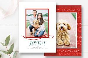 Joyful Holiday Card Template