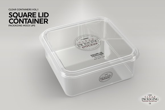 01 Clear Container Packaging Mockups Creative Branding Mockups