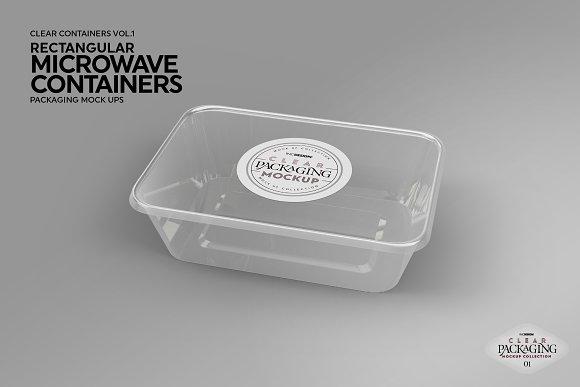 Microwave Containers Packagingmockup Creative Branding Mockups