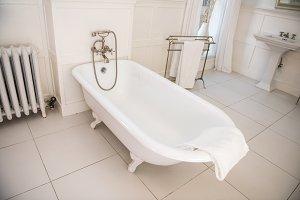bathroom with white bathtub
