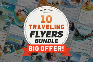 Travel & Tour Agency Flyer Bundle