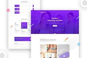 LearnPro website template
