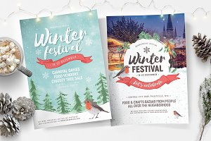 Winter Festival Flyers & Posters