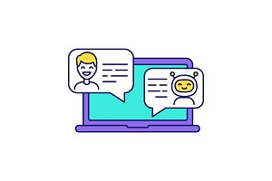 Support chatbot color icon