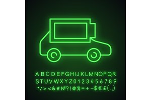 Charged electric car battery icon