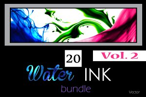 20 Water ink backgrounds. Vol. 2