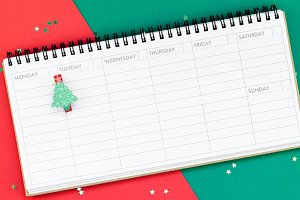New Year or Christmas timetable plan