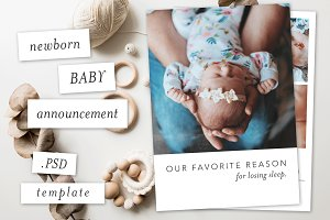 Modern Baby Announcement Template I