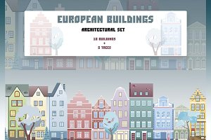 European buildings architectural set