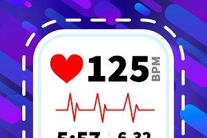 Heart rate monitor display