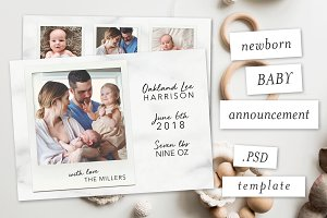 Modern Baby Announcement Template II