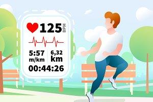 Run heartrate monitor display