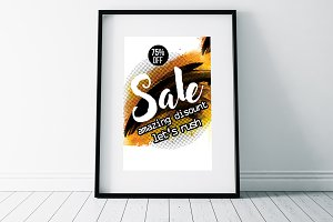 Sale Typography Flyer Templates