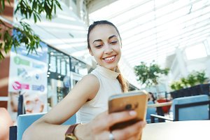 Young smiling attractive woman