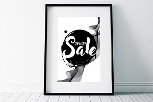 Black Friday Sale Typography Flyer