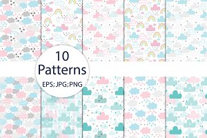 10 patterns with funny clouds!