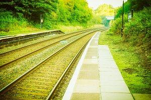 Railway track vintage retro